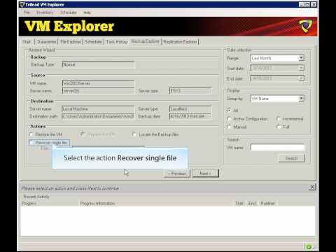 How to recover single file